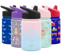 Simple Modern Kids Summit Sippy Cup Thermos 10oz - Stainless Steel Toddler Water Bottle Vacuum Insulated Girls and Boys Hydro Travel Cup Flask Ombre: Sweet Taffy Purple