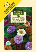 Seeds of Change Certified Organic Cut and Come Again Zinnia