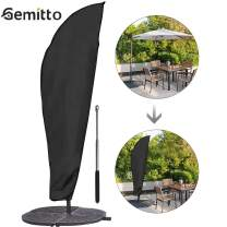GEMITTO Patio Umbrella Cover, Waterproof Outdoor Offset Umbrella Parasol Cover with Zipper & Rod, for 9-11ft Cantilever Umbrellas, Anti-UV Proof of Rain Wind Dust(210D Cantilever Umbrella Cover)