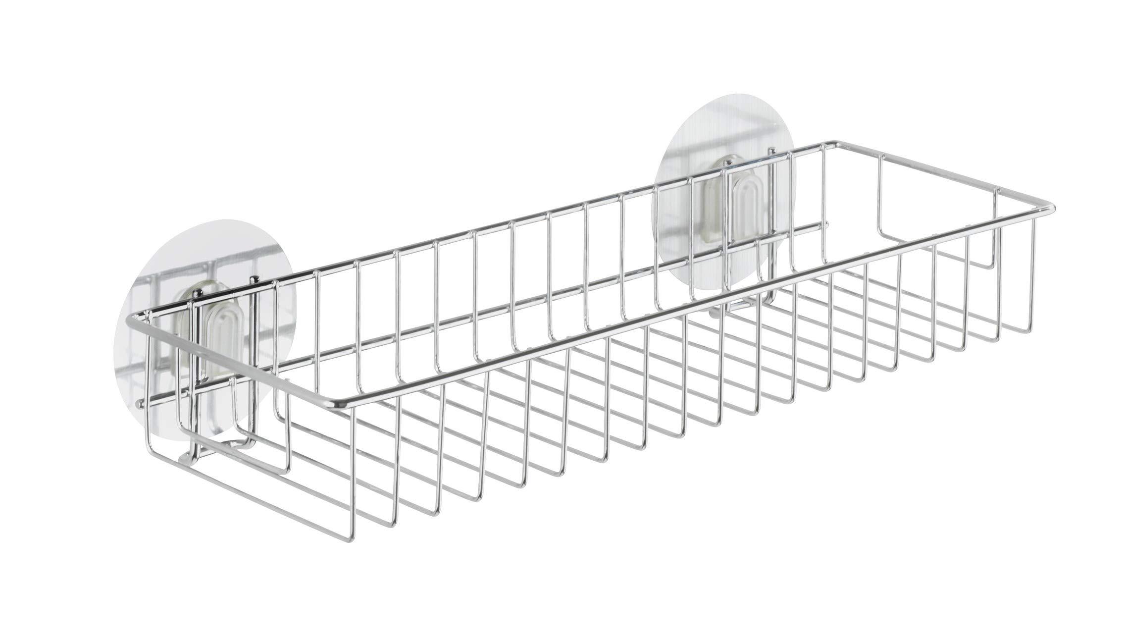 WENKO Wall Shelf Silver Maxi Static-Loc Osimo