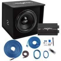 "Skar Audio SDR-1X15D2-RP-800.1D-SKAR4ANL-CCA Single 15"" Complete 1,200 Watt SDR Series Subwoofer Bass Package - Includes Loaded Enclosure with Amplifier"