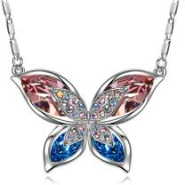 SIVERY Necklaces for Women 'Butterfly' Pendant Necklace Jewelry with New Crystals from Swarovski, Gifts for Girlfriend and Mom, Jewelry for Women