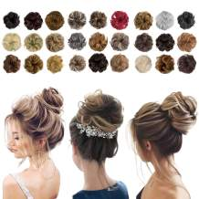 Messy Bun Hair Piece Thick Updo Scrunchies Hair Extensions Ponytail Hair Accessories Dark Brown Mix Light Auburn