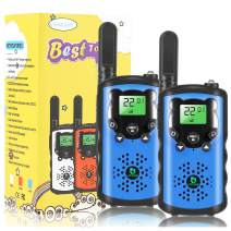 Kids Walkie Talkies, 22 Channel 2 Way Radio Toy, Toys for 3-12 Year Old Boys and Girls, 3 Miles Long Range for Outdoor Camping Game (Blue, 2 Pack)