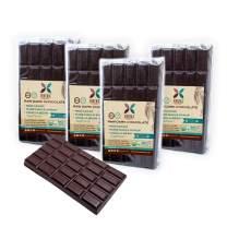 HNINA Gourmet Organic Raw 85% Dark Chocolate Bar with Pure Maple Syrup - Monsieur - 6.5 oz (185g) - 4-Pack