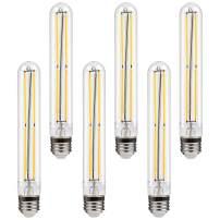 TORCHSTAR T30 (T10) LED Tubular Bulb, Dimmable Edison Vintage Filament Bulb, 120V 4.5W (40W Eqv.), UL Listed, E26 Medium Base, 2700K Soft White, for Pendant, Ceiling Lights, Lamps, Pack of 6