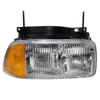 Aftermarket Replacement Passenger Halogen Composite Headlight Compatible with 95-97 Jimmy 94-97 Sonoma 16525158