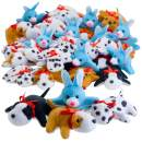 Kicko 3.5 Inch Mini Plush Animals - 50 Pieces of Stuffed Toys Assortment - Perfect for Children, Stress Reliever, Birthday, School Prizes, Party Favors and Supplies
