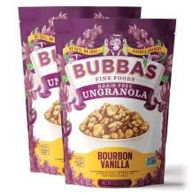 Bubba's Fine Foods Grain Free Granola Cereal | Bourbon Vanilla, 6oz (Pack of 2)