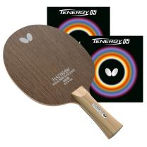 Butterfly Hadraw VR FL Blade with Tenergy 05 2.1 Red/Black Rubbers Pro-Line Table Tennis Racket