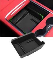 Jaronx for 2021 Tesla Model 3 Center Console Organizer,Console Storage Box Tray Armrest Secondary Hidden Cubby Drawer Organizer (for Tesla Upgraded Model 3-2021)