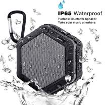 iMacros Portable Bluetooth Speaker,Outdoor Waterproof Speakers,Wireless Mini Speaker for iPhone,Android,Stereo Sound,Rich Bass,Built-in Mic,TF/SD Card (Black-03)