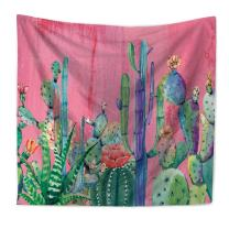 """Ruibo Cactus Decor Tapestry Wall Hanging Home Dorm Decoration Table Cloth/Runner - Watercolor Printed Bedroom Living Room Dorm Wall Hanging Tapestry Beach Throw(RB-C-4)(W:79"""" H:59"""")"""