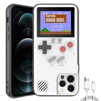 Autbye Gameboy Case for iPhone, Retro 3D Design Style Silicone Protective Case with 36 Small Games, Color Display Shockproof Video Game Phone Case (for iPhone Xs Max, White)