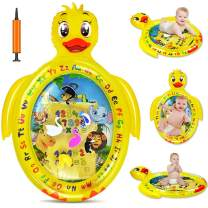 Tummy Time Baby Water Mat Infant Inflatable Play Mat for 3 6 9 Months Newborn Boy Girl Duck shape, Fun Colorful Toddlers Playmat Activity Gym - Early Stimulation Sensory Toys Baby Activity Center