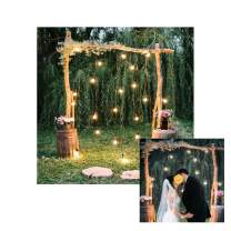 Baocicco 7x7ft Rustic Style Engagement Ceremony Backdrop Stunning Wedding Arch Decorations Twinkle Lights Floral Bouquets Background Wedding Date Valentine's Day Lover Couples Portrait Studio Props