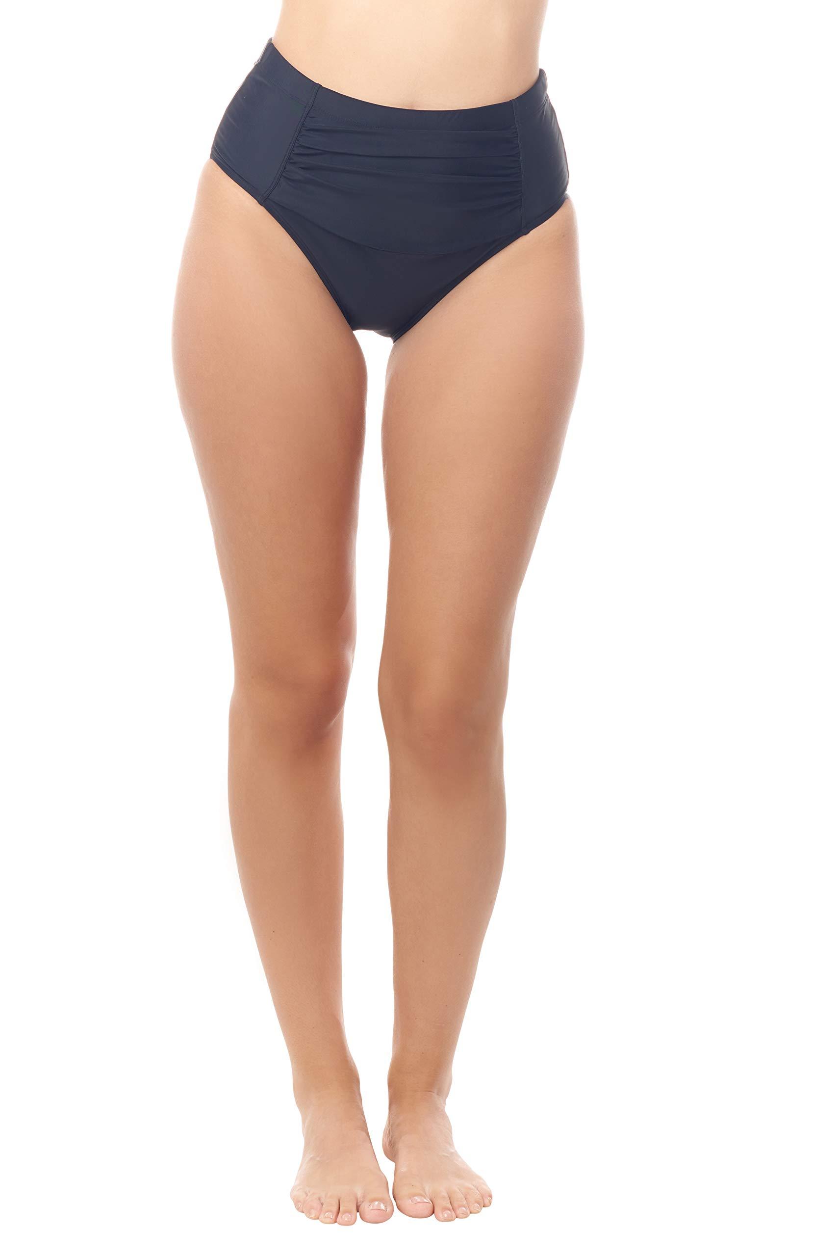 Love My Curves Ruched High-Waist Swim Suit | Tummy Control Bikini Bottom