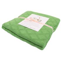 Adory Sweety Baby Soft Knit Throw Blanket with 100% Cotton for Couch Chairs Beach Sofa Picnic,50 x 60 inch, As Gift with Free Washing Bag (Green)