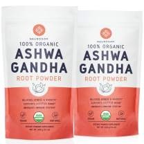 Neurogan Organic Ashwagandha Powder (2 lb) - 100% Raw From India & USDA Organic Ashwagndha Root Powder for Improved Mood, Sleep, Vitality, Adrenal Health & Anxiety Relief - Vegan, Non-GMO, Gluten-Free