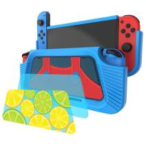 momen Protective Cover Case for Nintendo Switch,Shockproof and Anti-Scratch Design with 3 Removable PC Back Cover (Blue)