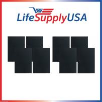 LifeSupplyUSA 8 Carbon Pre Filters Compatible with Fellowes AP-300PH Air Purifier, Compare to Part # CF-300 (9372101) -