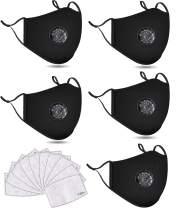 5 PCS Washable Reusable Adjustable Cotton Face Madks, 5B2