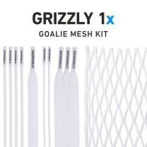 StringKing Grizzly 1x Semi-Hard Goalie Lacrosse Mesh Kit with Mesh and Strings