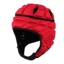surlim Rugby Soft Helmet Soccer Headgear Scrum Cap 7v7 Flag Football Headguard for Adult XL
