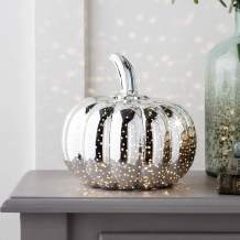 Silver Battery Operated LED Halloween Thanksgiving Pumpkin Light Party Decoration