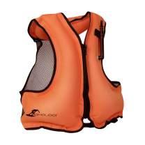 OMOUBOI Life Jacket Snorkel Vest Adult Inflatable Swim Snorkel Vest for Snorkeling, Suitable for 80-220lbs