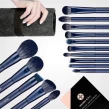 Makeup Brush Set, EIGSHOW Professional Makeup Brushes Kit Foundation Powder Concealers Eye Shadows Makeup 15 Piece for Eye Face Liquid Cream Cosmetics Brushes Kit (BLUE)