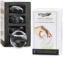 Masontops Pickle Pebble Glass Infinity Weights for Fermenting - Pickling Weight Set - Small/Regular Mouth Mason Jar Fermentation