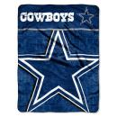 """The Northwest Company Officially Licensed NFL Livin Large Micro Raschel Throw Blanket, 46"""" x 60"""", Multi Color"""