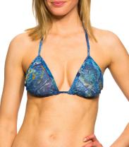 Kiniki Azure Tan Through Bikini Top Swimwear