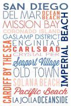 San Diego, California, Typography 55789 (16x24 SIGNED Print Master Art Print, Wall Decor Poster)