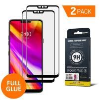 GPEL Screen Protector for LG G7 ThinQ Full Glue Case Friendly Work with Most Case Premium Japanese Asahi Real Tempered Glass HD Clear Easy Installation 9H Hardness 99% Touch Accurate [2-Pack]