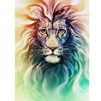 DIY 5D Diamond Painting Kit, Full Square Diamond Angry Lion Embroidery Rhinestone Cross Stitch Arts Craft Supply for Home Wall Decor