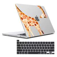 MacBook Pro 16 inch Case 2019 Release A2141, Plastic Hard Shell Case with Keyboard Cover for MacBook pro 16 inch, Skin for New 16 inch MacBook Pro Case, Funny Giraffe