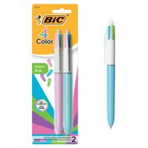 BIC 4 Color Fashion Ball Pen, Medium Point (1.0mm), Assorted, 2-Count