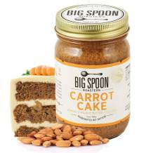Big Spoon Roasters Carrot Cake Almond & Walnut Butter w/ Maple Syrup & Sea Salt - Keto Friendly & Paleo - Crunchy Almond Butter w/ Bee-Friendly Almonds - Gourmet, Vegan Nut Butter - 13 Ounces