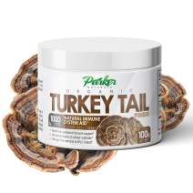 Premium Organic Turkey Tail Mushroom Powder by Parker Naturals Supports Immune System Health. Nature's Original Superfood. 100 Grams …