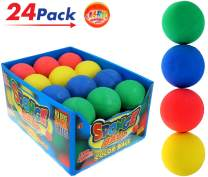 """Rubber Bouncy Ball Colors Style (Pack of 24) 2.5"""" Hi Bounce Same Pinky Solid Balls for Play or Massage Therapy. Plus 1 Small JA-RU Ball. # 978-24p"""