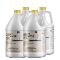 CarpetGeneral - Carpet Defoamer 5814 - Foam Suppressant Solution For Carpet Shampooers and Cleaning Machines - Neutral Non-Corrosive Silicone Emulsion Formula Prevents Sudsing - Case of Four 1 Gallon Bottles