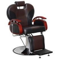 BarberPub Heavy Duty Recline Barber Chair All Purpose Hydraulic Salon Chair for Hair Stylist Spa Beauty Shampoo Equipment 8705 (Black&Brown)