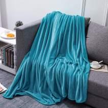 Hboemde Fleece Blanket King Size Teal Blanket, Super Soft Bed Blanket for Couch or Bed,Cozy Microfiber All Season Blanket