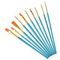 Paint Brushes for Acrylic Painting, Nylon Hair Artist Detail Paintbrushes Set for Oil Watercolor Painting Face Nail Body Art Craft Model, Blue