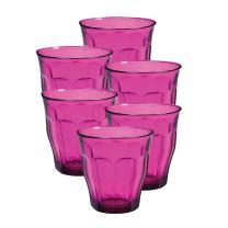 Duralex Picardie 25 Ci Glass Tumbler, 8.75 oz, Pink