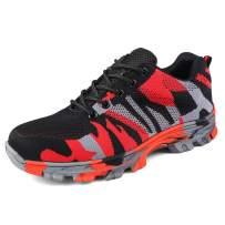 UCAYALI Men's Women's Safety Shoes Steel Toe Work Sneakers Breathable Lightweight Construction Footwear