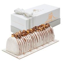 Vanila Nutty Halva Chocolate Log - Handcrafted With Deluxe Gift Box, Great Valentine's Chocolate Gift