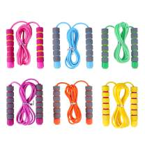 Jump Rope for Kids 6 Pack Adjustable Soft Skipping Rope Training Outdoor Activity Segmented Fitness Skipping Rope for Boys Girls